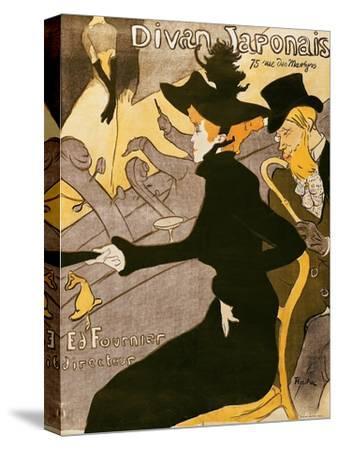 """Poster Advertising """"Le Divan Japonais"""", 1892-Henri de Toulouse-Lautrec-Stretched Canvas Print"""