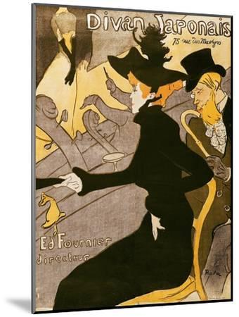 """Poster Advertising """"Le Divan Japonais"""", 1892-Henri de Toulouse-Lautrec-Mounted Giclee Print"""