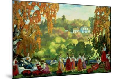 Summery Days in Early Autumn, 1916-Sergei Yurevich Sudeikin-Mounted Giclee Print