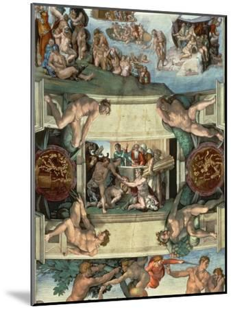 Sistine Chapel Ceiling : the Sacrifice of Noah, 1508-10-Michelangelo Buonarroti-Mounted Giclee Print