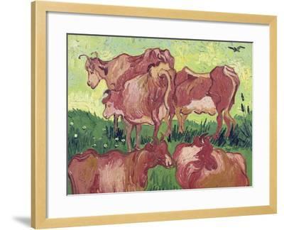 Cows, c.1890-Vincent van Gogh-Framed Giclee Print