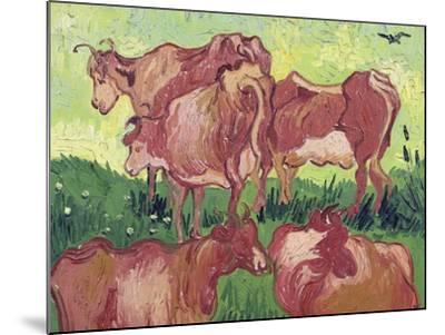 Cows, c.1890-Vincent van Gogh-Mounted Giclee Print