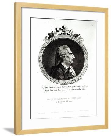 Medallion Portrait of Giacomo Casanova Age 63, 1788-Johann Berka-Framed Giclee Print