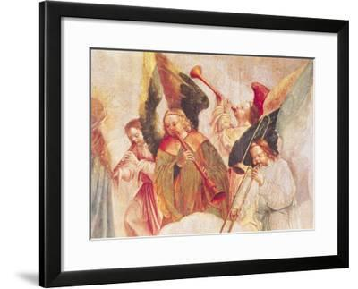 Musical Angels, Detail from the Assumption of the Virgin-Taborda Vlame Frey Carlos-Framed Giclee Print