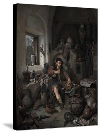 The Alchemist, 1663-Cornelis Bega-Stretched Canvas Print