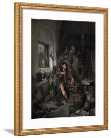 The Alchemist, 1663-Cornelis Bega-Framed Giclee Print