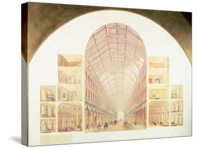 Section Perspective of the Proposed Great Victorian Way, circa 1854-Sir Joseph Paxton-Stretched Canvas Print