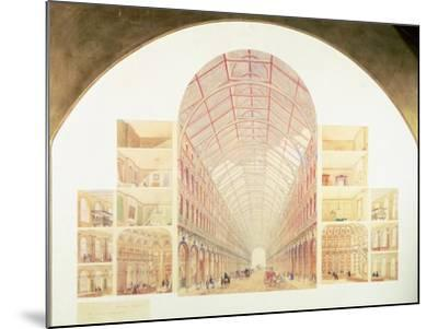 Section Perspective of the Proposed Great Victorian Way, circa 1854-Sir Joseph Paxton-Mounted Giclee Print