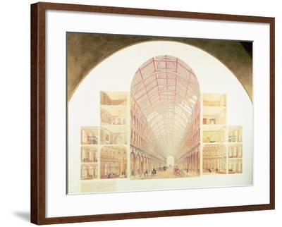 Section Perspective of the Proposed Great Victorian Way, circa 1854-Sir Joseph Paxton-Framed Giclee Print