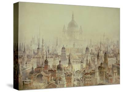 A Tribute to Sir Christopher Wren-Charles Robert Cockerell-Stretched Canvas Print