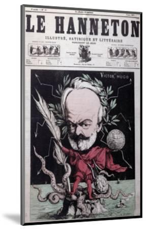 """Caricature of Victor Hugo as Zeus in Exile on Guernsey from the Front Cover Of""""Le Hanneton""""-G^ Deloyoti-Mounted Giclee Print"""
