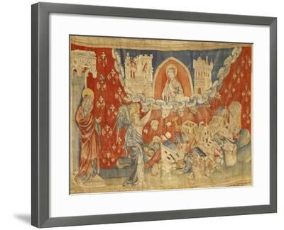 """The Seven Bowls of Wrath and the Destruction of Babylon, No. 63 in the """"Apocalypse of Angers""""-Nicolas Bataille-Framed Giclee Print"""