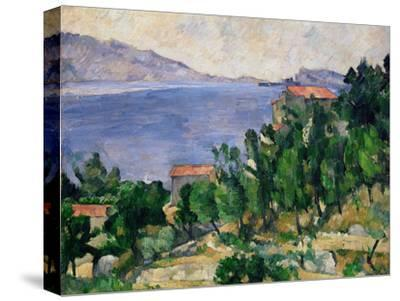 View of Mount Mareseilleveyre and the Isle of Maire, circa 1882-85-Paul C?zanne-Stretched Canvas Print