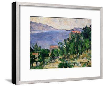 View of Mount Mareseilleveyre and the Isle of Maire, circa 1882-85-Paul C?zanne-Framed Giclee Print