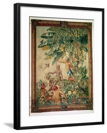 """Hunting, from the """"Tenture des Nouvelles Indes"""", Gobelin Workshop--Framed Giclee Print"""