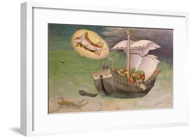 St. Nicholas Saves a Ship from Wreckage, Predella Panel from the Quaratesi Altarpiece, 1425-Gentile Da Fabriano-Framed Giclee Print