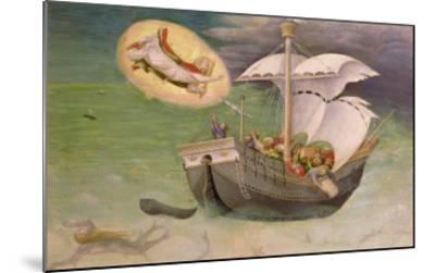 St. Nicholas Saves a Ship from Wreckage, Predella Panel from the Quaratesi Altarpiece, 1425-Gentile Da Fabriano-Mounted Giclee Print