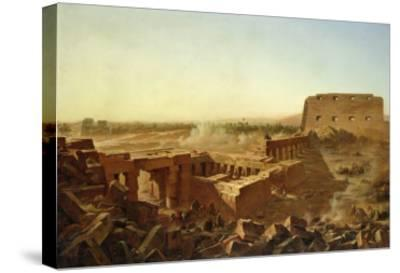 The Battle at the Temple of Karnak: the Egyptian Campaign-Jean Charles Langlois-Stretched Canvas Print