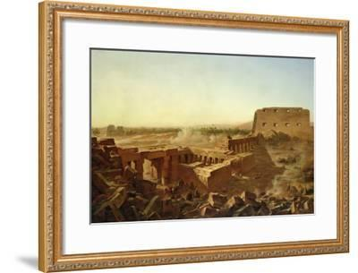The Battle at the Temple of Karnak: the Egyptian Campaign-Jean Charles Langlois-Framed Giclee Print