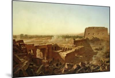 The Battle at the Temple of Karnak: the Egyptian Campaign-Jean Charles Langlois-Mounted Giclee Print