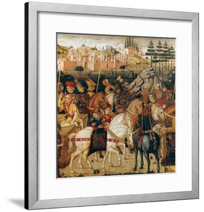 The Triumph of Julius Caesar-Paolo Uccello-Framed Giclee Print