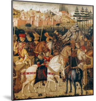 The Triumph of Julius Caesar-Paolo Uccello-Mounted Giclee Print