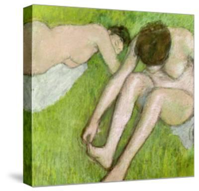 Two Bathers on the Grass, circa 1886-90-Edgar Degas-Stretched Canvas Print