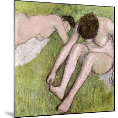 Two Bathers on the Grass, circa 1886-90-Edgar Degas-Mounted Giclee Print