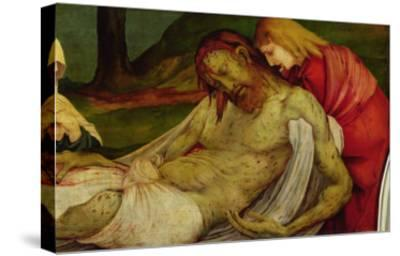 The Entombment from the Isenheim Altarpiece, circa 1512-16-Matthias Gr?newald-Stretched Canvas Print