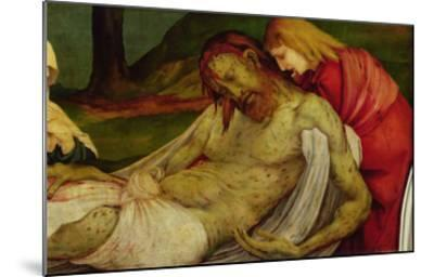 The Entombment from the Isenheim Altarpiece, circa 1512-16-Matthias Gr?newald-Mounted Giclee Print