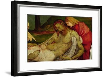 The Entombment from the Isenheim Altarpiece, circa 1512-16-Matthias Gr?newald-Framed Giclee Print