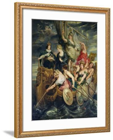 The Majority of Louis XIII 20th October 1614, 1621-25-Peter Paul Rubens-Framed Giclee Print