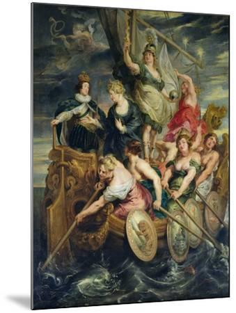The Majority of Louis XIII 20th October 1614, 1621-25-Peter Paul Rubens-Mounted Giclee Print