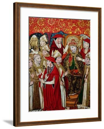 Election of Fabian to the Papacy-Jaume Huguet-Framed Giclee Print