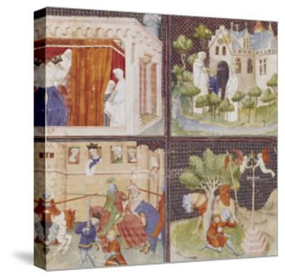 The Story of Lancelot and the Quest for the Holy Grail--Stretched Canvas Print