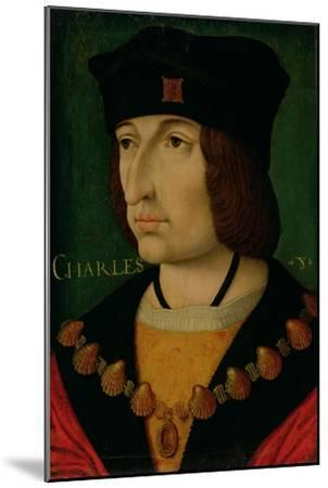 Portrait of Charles VIII King of France-Jean Bourdichon-Mounted Giclee Print