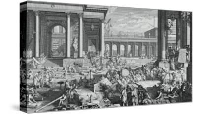 The Academy of Sciences and Fine Arts-Jacques Sébastien Le Clerc-Stretched Canvas Print