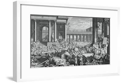 The Academy of Sciences and Fine Arts-Jacques Sébastien Le Clerc-Framed Giclee Print