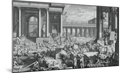 The Academy of Sciences and Fine Arts-Jacques Sébastien Le Clerc-Mounted Giclee Print