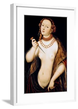 The Suicide of Lucretia, 1538-Lucas Cranach the Elder-Framed Giclee Print