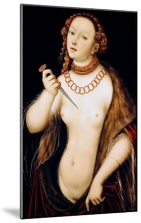The Suicide of Lucretia, 1538-Lucas Cranach the Elder-Mounted Giclee Print