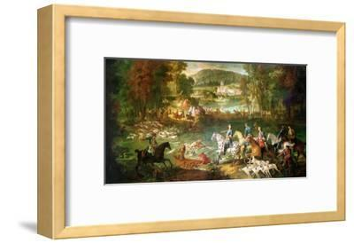 Hunting at the Saint-Jean Pond in the Forest of Compiegne, Before 1734-Jean-Baptiste Oudry-Framed Giclee Print