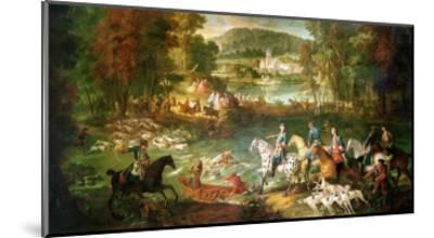 Hunting at the Saint-Jean Pond in the Forest of Compiegne, Before 1734-Jean-Baptiste Oudry-Mounted Giclee Print