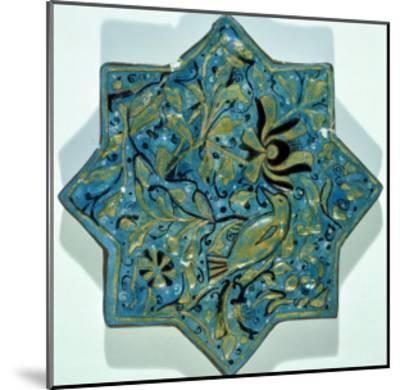 Star-Shaped Overglaze Leaf-Gilded Tile in the Style of Takht-E Solaiman, 13th-14th Century--Mounted Giclee Print