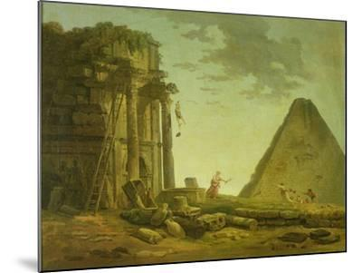 The Accident-Hubert Robert-Mounted Giclee Print
