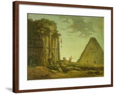 The Accident-Hubert Robert-Framed Giclee Print
