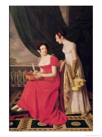 Madame Riesener and Her Sister, Madame Longroy, 1802-Henri Francois Riesener-Framed Giclee Print
