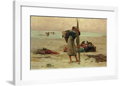 Oyster Catching, 1884-Pierre Celestin Billet-Framed Giclee Print