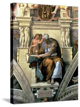 Sistine Chapel Ceiling: Cumaean Sibyl, 1510-Michelangelo Buonarroti-Stretched Canvas Print