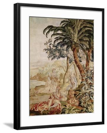 America, from a Tapestry of the Four Corners of the World, Amsterdam-A. Baertams-Framed Giclee Print